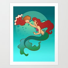Daughters of Triton Art Print