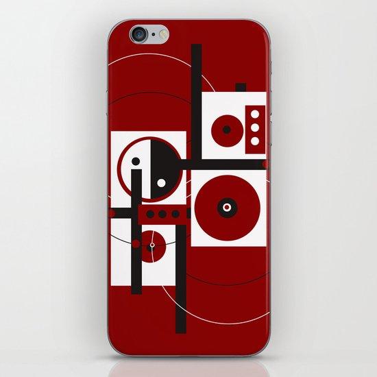 Geometric/Red-White-Black 2 iPhone Skin