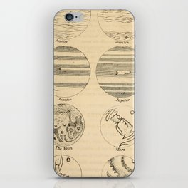 Guy's Elements of astronomy (1864) - Telescopic Views of Jupiter and Mars iPhone Skin
