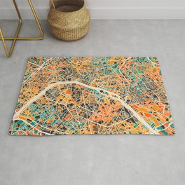 Paris mosaic map #2 Rug