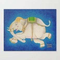 Happy Dreamtime Elephant Canvas Print