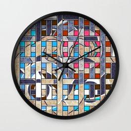 Braided patchwork Wall Clock