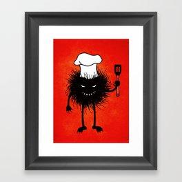 Evil Bug Chef Loves To Cook Framed Art Print