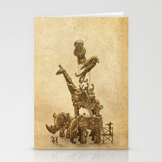 Mechanical Menagerie  Stationery Cards