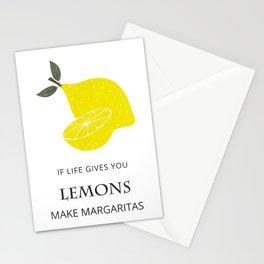 If Life Gives You Lemons Make Margaritas, Illustration Print Stationery Cards