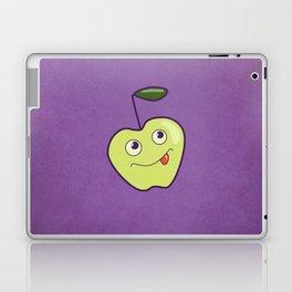 Purple Green Cartoon Apple Laptop & iPad Skin