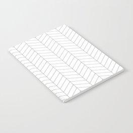 Herringbone - Black + White Notebook