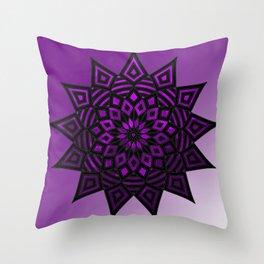 Purple Star   Tam Tam   Mandhala Throw Pillow