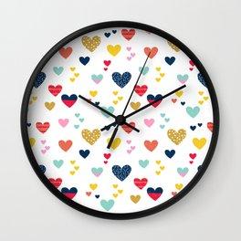cheerful hearts Wall Clock
