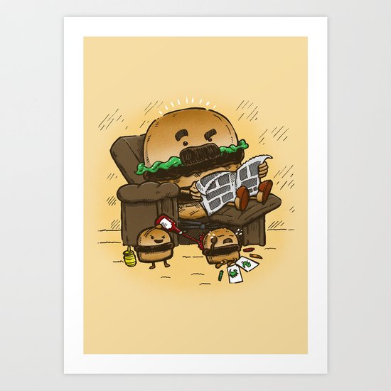 The Dad Burger Art Print