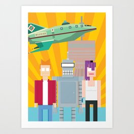 Drag me to the space Art Print