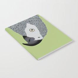 African Grey Parrot [ON MOSS GREEN] Notebook