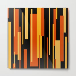 Modern Tiger - Abstract - Yellow, Orange, Black Metal Print