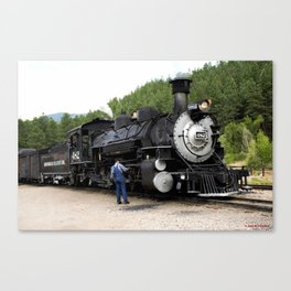 Stop at the Rockwood Depot Canvas Print