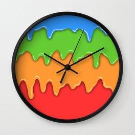 Bright color melt Wall Clock