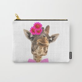 Giraffe funny animal illustration Carry-All Pouch