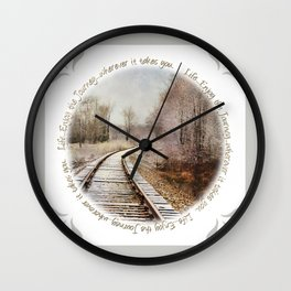 Snow on the Tracks Wall Clock