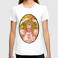 princess peach T-shirts featuring Princess Peach by Jazmine Phillips