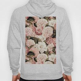 Vintage & Shabby floral camellia flowers watercolor pattern Hoody