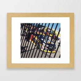 Caged CAT Framed Art Print