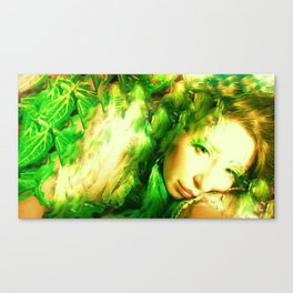 PHOTO OF LADYKASHMIR  SEMI NUDE GODDESS Canvas Print