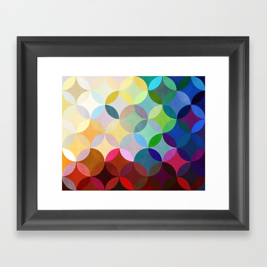 Circular Motion Framed Art Print