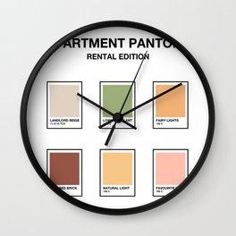 Apartment Pantone Swatches Wall Clock