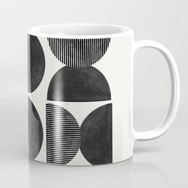Mid Century, Retro Geometric Art Coffee Mug