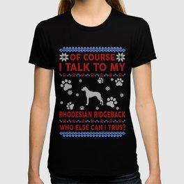 Rhodesian Ridgeback Ugly Christmas Sweater T-shirt