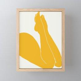Nude in yellow 3 Framed Mini Art Print