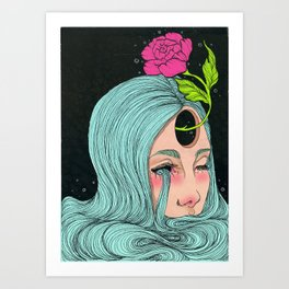 out of tears Art Print