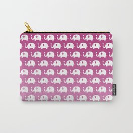 Elephants in Love (Pink) Carry-All Pouch