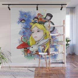 Alice's Adventure in Wonderland Wall Mural
