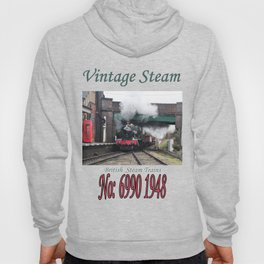 Vintage Steam Railway Train at the Station Hoody