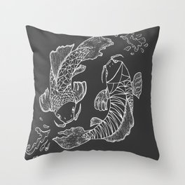 Japanese carp Koi Throw Pillow