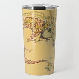 Dragon with fish Travel Mug