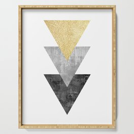 Geometric and modern art XI Serving Tray
