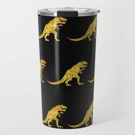 Golden T.Rex Pattern Travel Mug