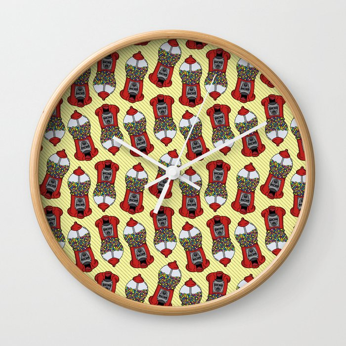 Gumball Machine Pattern Wall Clock
