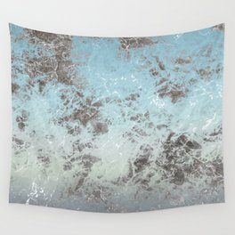 Blue gray abstract pattern Wall Tapestry