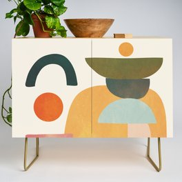 Modern Abstract Art 70 Credenza