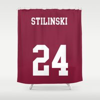stiles stilinski Shower Curtains featuring STILINSKI - 24 by Mobscene93