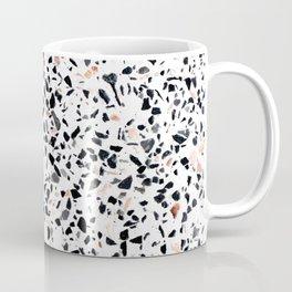 Terrazzo Stone Pattern Black and Orange Peach Coffee Mug