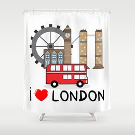 I love London Shower Curtain