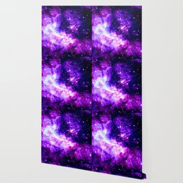 Purple Galaxy : Celestial Fireworks Wallpaper