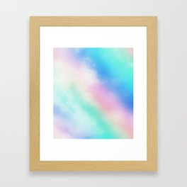 Rainbow Pastel Clouds Framed Art Print