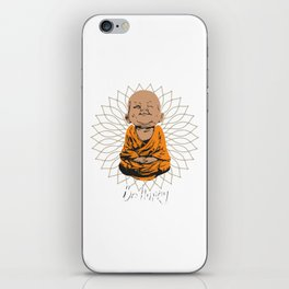 Be Happy Little Buddha on Mandala iPhone Skin
