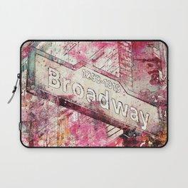 Broadway sign New York City Laptop Sleeve