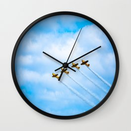 aircraft vintage airplanes aviation Wall Clock
