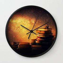 midnight tale Wall Clock
